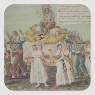 The Feast of Agriculture in 1796 at Paris Square Sticker