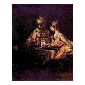 The Feast of Esther by Rembrandt van Rijn Posters