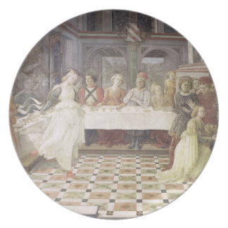 The Feast of Herod (fresco) (see also 60432) Melamine Plate