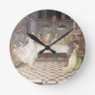 The Feast of Herod (fresco) (see also 60432) Round Clock