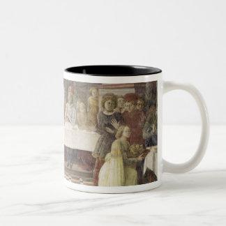 The Feast of Herod (fresco) (see also 60432) Two-Tone Coffee Mug