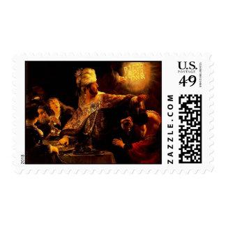 The Feast of King Belshazzar of Babylon Postage