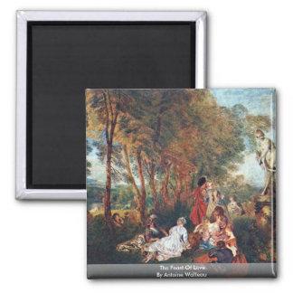 The Feast Of Love By Antoine Watteau Magnet