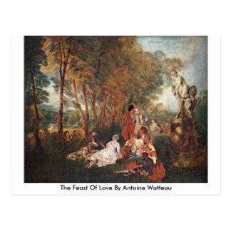 The Feast Of Love By Antoine Watteau Postcard