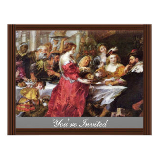 The Feast Of The Herododes By Rubens Peter Paul Custom Invitations