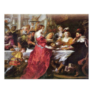The Feast Of The Herododes By Rubens Peter Paul Personalized Announcement