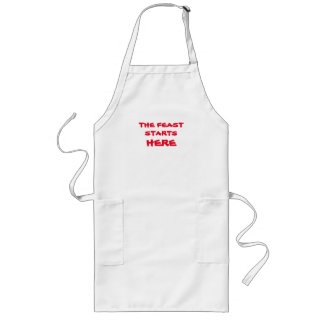 The Feast Starts Here Apron