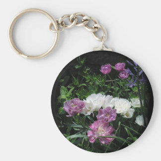 The Feathered Tulips Keychain