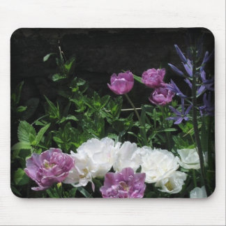 The Feathered Tulips Mouse Pad