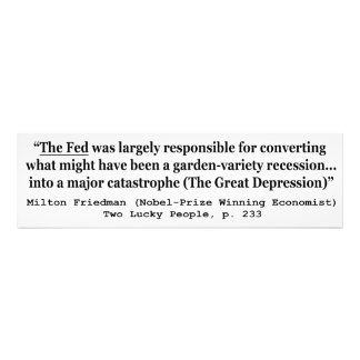 The Fed Was Responsible For The Great Depression Photo Print