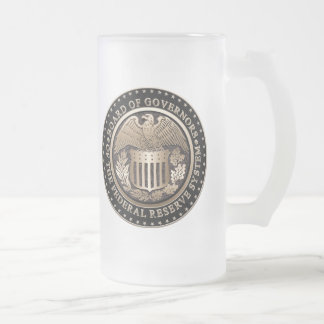 The Federal Reserve Frosted Glass Beer Mug