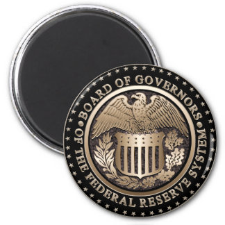 The Federal Reserve 2 Inch Round Magnet