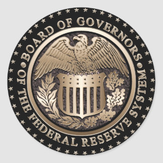 The Federal Reserve Round Stickers