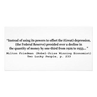 The Federal Reserve & The Great Depression Card