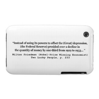 The Federal Reserve & The Great Depression Case-Mate iPhone 3 Case