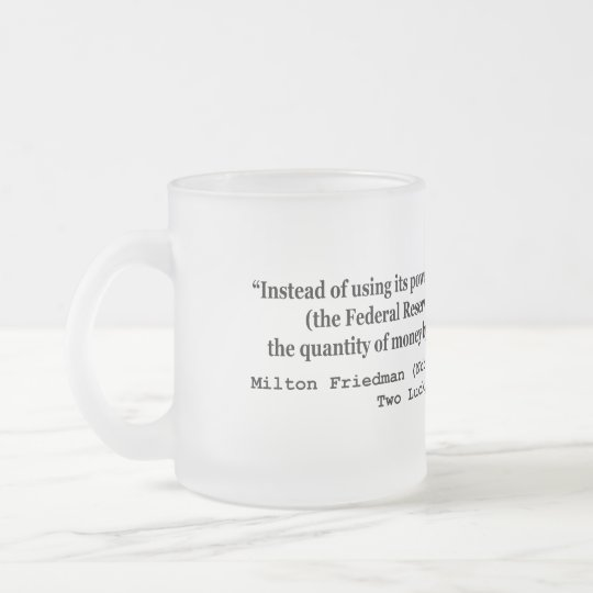 The Federal Reserve & The Great Depression Frosted Glass Coffee Mug