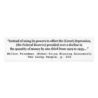 The Federal Reserve The Great Depression Photo Print