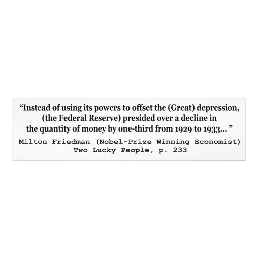 The Federal Reserve & The Great Depression Photo Print