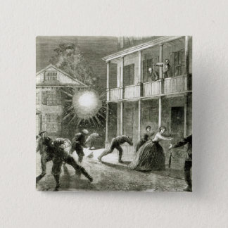 The Federals shelling the City of Charleston Pinback Button