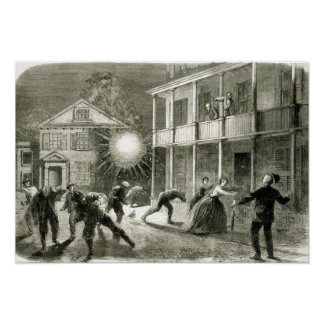 The Federals shelling the City of Charleston Poster