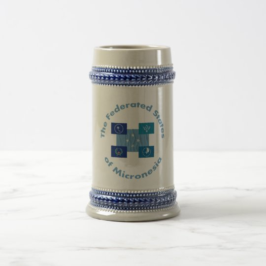 The Federated States of Micronesia Beer Stein