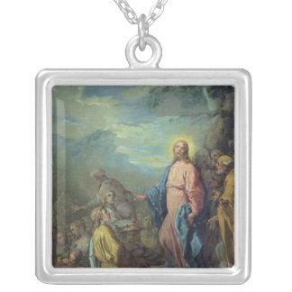 The Feeding of the Five Thousand, before 1733 Silver Plated Necklace