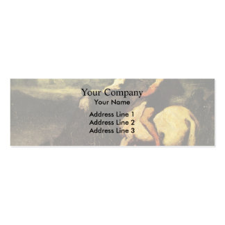 The Feeding Trough by Honore Daumier Business Card