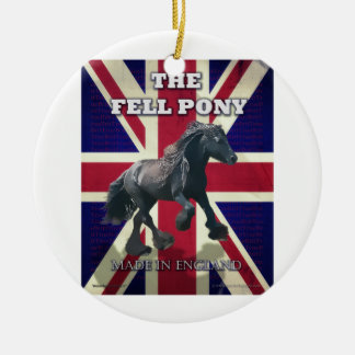 """The Fell Pony -- True Brit -- Made In England"" Double-Sided Ceramic Round Christmas Ornament"