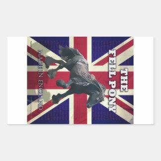 """The Fell Pony -- True Brit -- Made In England"" Rectangular Sticker"