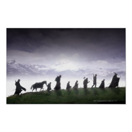 the fellowship of the ring poster zazzle com