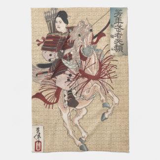 The female warrior samurai Hangaku Gozen Hand Towels