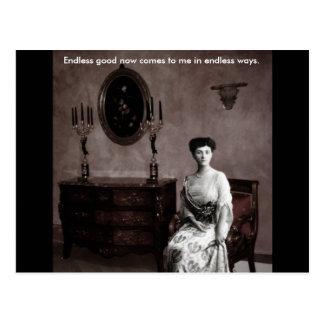 The feminine ghost postcard
