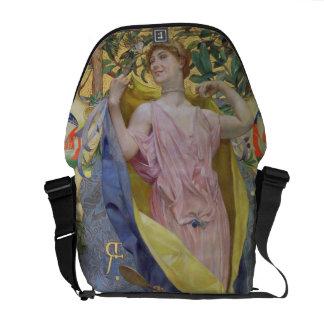 The Feminine Toilet (panel) Courier Bag