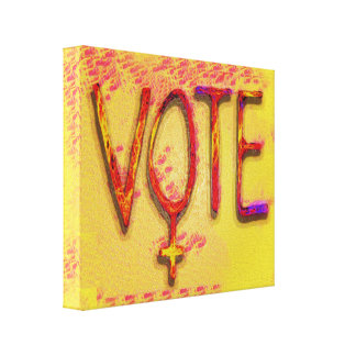 The Feminist Vote by Aleta Canvas Print