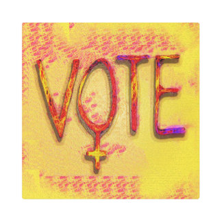 The Feminist Vote by Aleta Metal Print