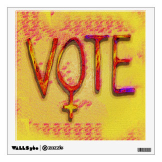 The Feminist Vote by Aleta Wall Decal