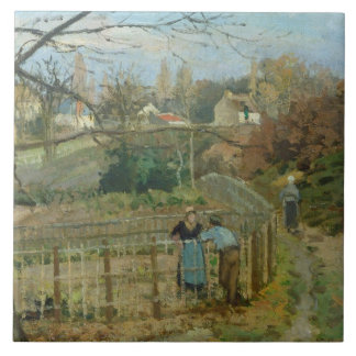 The Fence, 1872 (oil on canvas) Ceramic Tile