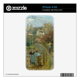 The Fence, 1872 (oil on canvas) Decals For The iPhone 4S