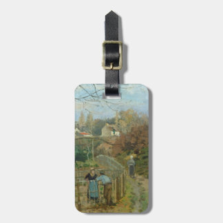 The Fence, 1872 (oil on canvas) Luggage Tag