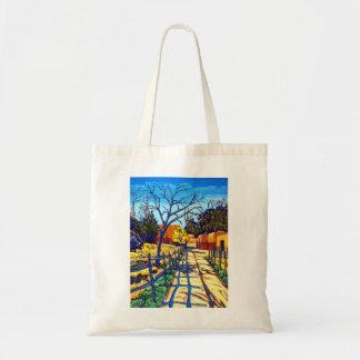 The Fence Shadows Santa Fe Tote Bag
