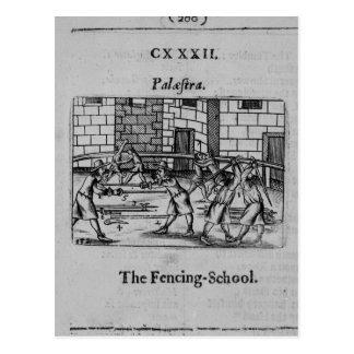 The Fencing School Postcard