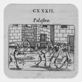 The Fencing School Square Sticker