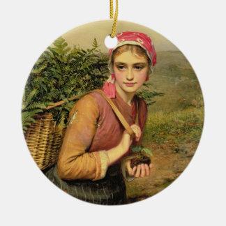 The Fern Gatherer Ceramic Ornament