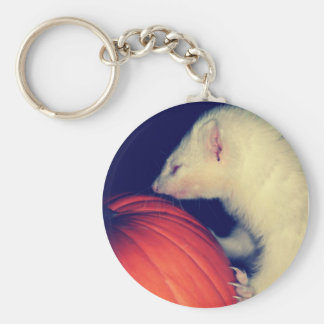 The Ferret and The Pumpkin Keychain