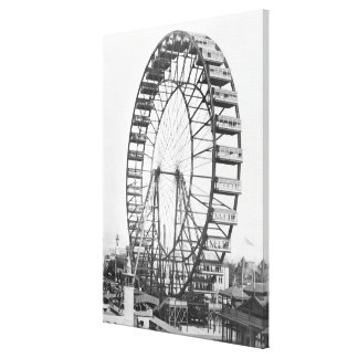 The ferris wheel at the World's Columbian Canvas Print