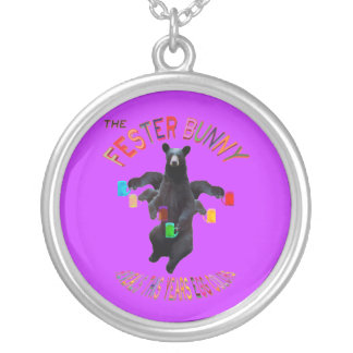 The Fester Bunny Reveals This Years Egg Colors Round Pendant Necklace