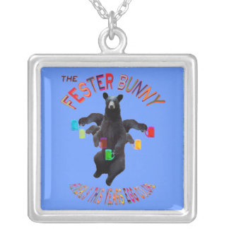 The Fester Bunny Reveals This Years Egg Colors Square Pendant Necklace