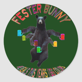 THE FESTER BUNNY STICKERS