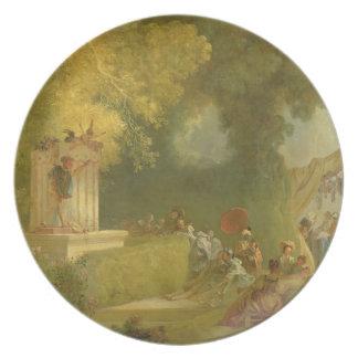 The Fete at Saint-Cloud, detail of the Puppet Show Plates