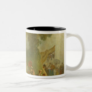 The Fete at Saint-Cloud, detail of the Puppet Show Two-Tone Coffee Mug
